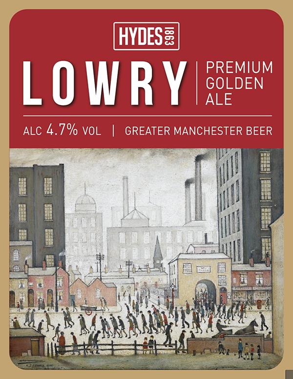 Hydes Lowry - A Premium Golden Ale
